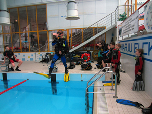OWD kursus - basseini sukeldumised