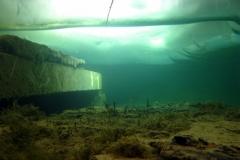 Under ice ;)